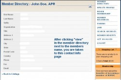 online directory screen shot