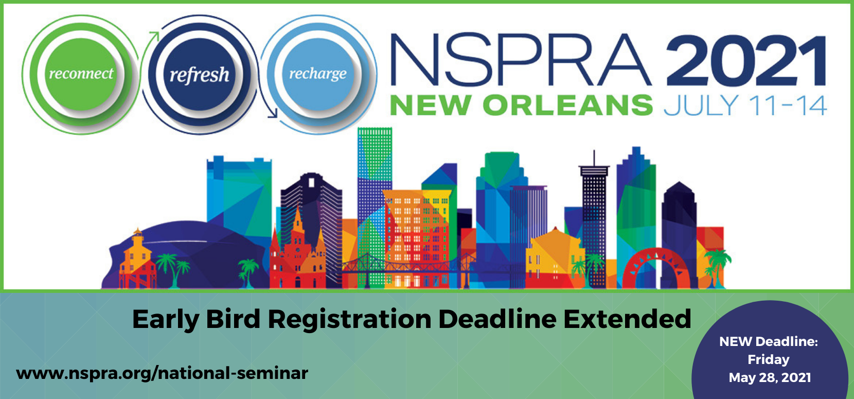 NSRPA 2021 Seminar Registration is extended to Friday, May 28
