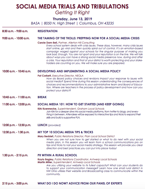 Social Media Trials and Tribulations workshop description